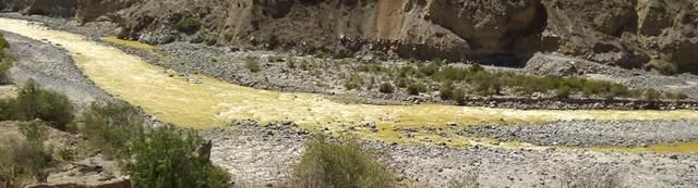 Contaminación de rio tambo